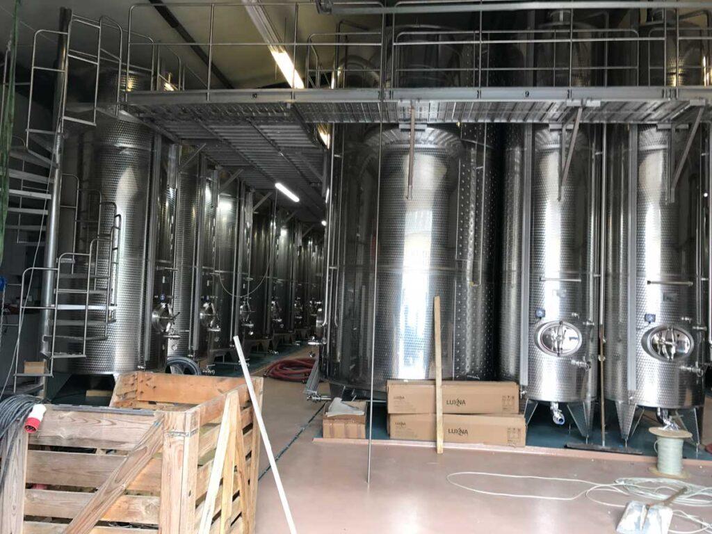 Tankkühlung und Beheizung für Weingut